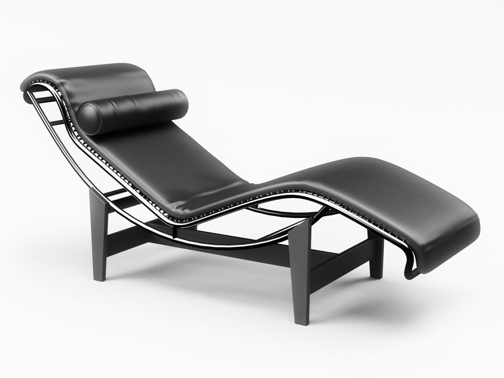 Max chaise lounge le corbusier for Chaise le corbusier