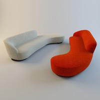 3ds max sloane 2 sofas