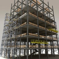 modular steel construction scaffold 3d model
