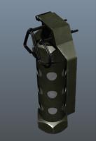 3d stun grenade model