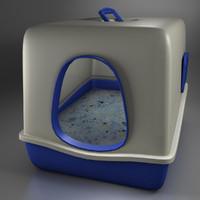3d cat toilet model