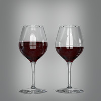 wine glasses 3d 3ds