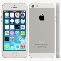 iphone 5s silver 3d 3ds