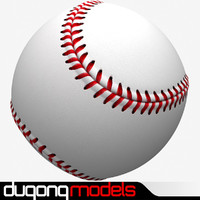 3d model dugm09 baseball