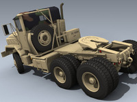 army m932 tractor 3d model