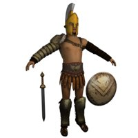 Low poly Light Gladiator - Greek Armor
