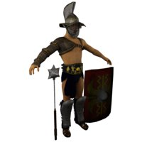 Low poly Light Gladiator - Thracian Armor
