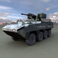 military vehicle 3d obj