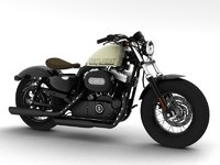 3d model harley-davidson xl1200 sportster forty-eight