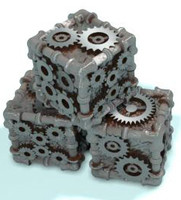 steampunk dice obj