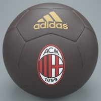 brown ac milan football 3d model