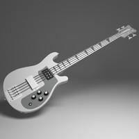 3d model bass guitar