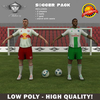 3d soccer pack model