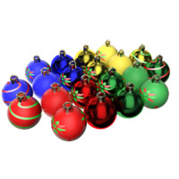 customizable christmas balls 3d model