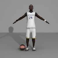 3d custom basketball player model