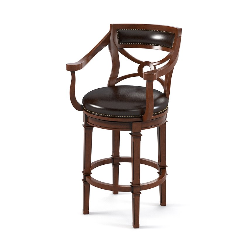 Ambella Delaware Bar counter stool Chair classic Leather traditional regency country style victorian classical0001.jpg