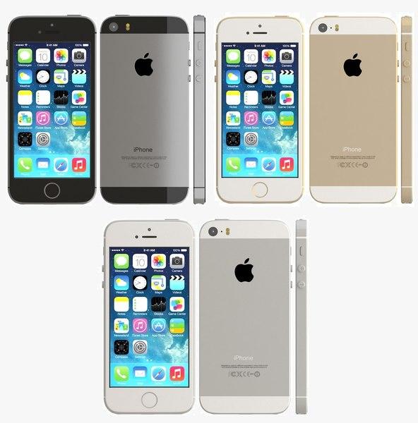 iphone 5s color 3d 3ds