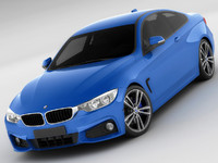 3d model bmw f32 coupe