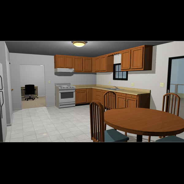 3d of furnished house rigged - Furnished House: Two Story: Fully Rigged... by phantomliving
