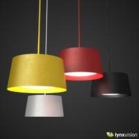 twiggy grande pendant lamp 3d model