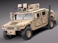 3d 2010 suv military vechicle model