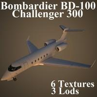 bombardier bd-100 challenger 3d model