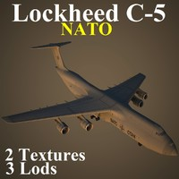 3d lockheed c-5 nat model