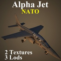 alpha jet nat aircraft 3d model