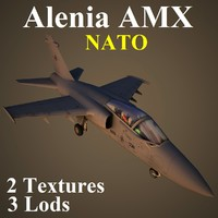 3d model alenia amx nat