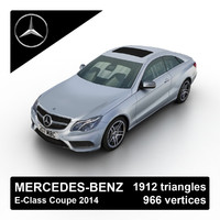 2014 mercedes-benz e-class coupe 3d model