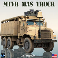 oshkosh mtvr military truck 3d lwo