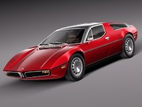 3d model classic antique 1971 sport