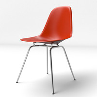 Eames Molded Plastic Chair Metal Leg