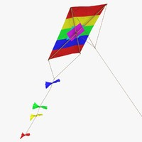 rectangle kite 3d model
