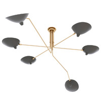 Serge Mouille Ceiling lamp 6 arms