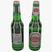 lightwave stella artois beer bottle