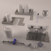 3dsmax pack water treatment plant