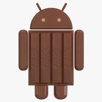 3d model of android kit kat logo