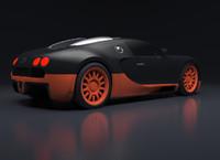 bugatti veyron rig 3d obj