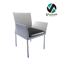 3d model modern armchair ensemble