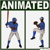 3d batter pitcher baseball player