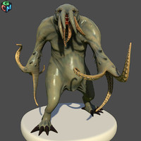 3d monster tentacle model