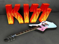 3d model kiss paul stanley ibanez