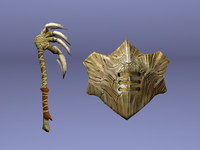 Bone Axe Shield