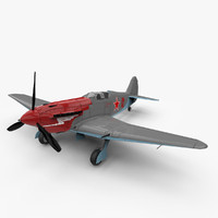 3d model yak-3 aircraft world