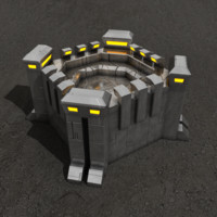 max fortification sci-fi building
