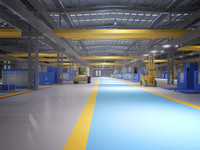 scene interior factory 3d model