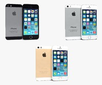 apple iphone 5s colors 3d max