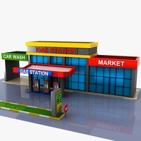 Cartoon Gas Station 2