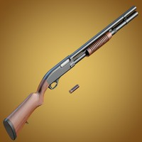 Baikal MP-133 shotgun with wooden stock and extended magazine